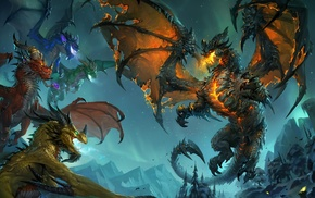 dragon, World of Warcraft, fantasy art, World of Warcraft Cataclysm