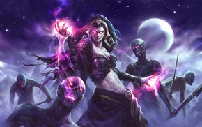 Liliana Vess, Magic The Gathering, fantasy art, witch, zombies
