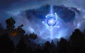 stars, night, artwork, fantasy art