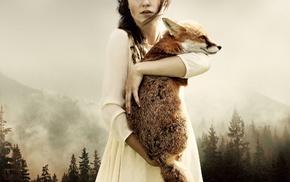 girl, fox, model