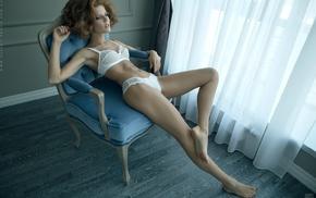 armpits, white bra, white panties, Aleksandr Lishchinskiy, model, arms up