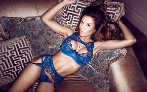 Aleksandr Lishchinskiy, model, brunette, blue bras, armpits, brown eyes