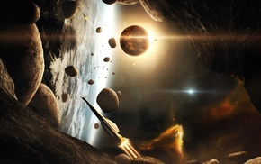 stars, 3D, atmosphere, CGI, universe, glowing