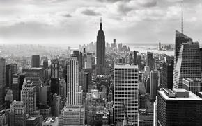 cityscape, city, monochrome, New York City