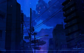 city, artwork, wires, night, urban