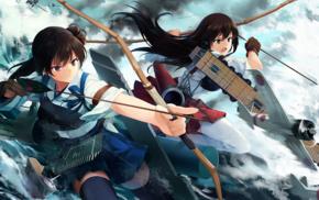 Kantai Collection, anime girls, Kaga KanColle, anime, Akagi KanColle