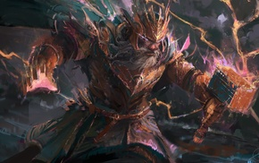 Thor, artwork, fantasy art