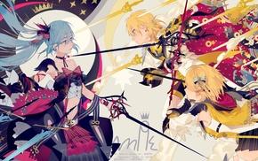 anime girls, Kagamine Rin, Hatsune Miku, Vocaloid, Kagamine Len