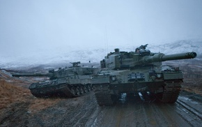 tank, Norwegian Army, military, Leopard 2, Norway