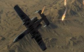 US Air Force, military aircraft, Fairchild Republic A, 10 Thunderbolt II, military