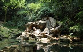 China, sculpture, tiger