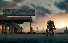 power armor, Fallout 4, fan art