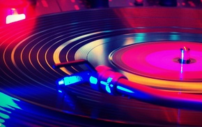 turntables, record players