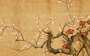 trees, paper, cherry trees, cherry blossom