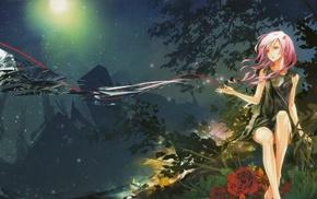 landscape, nature, Yuzuriha Inori, Guilty Crown, trees, rose