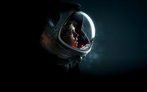 Alien movie, science fiction, space suit, artwork, Ellen Ripley, Sigourney Weaver