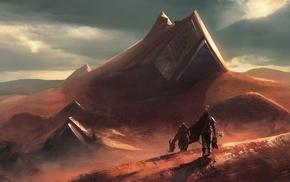 apocalyptic, desert, fantasy art, artwork, concept art