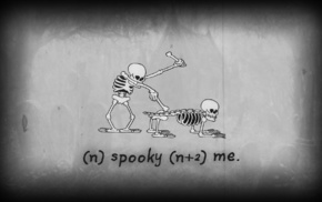 skeleton, spooky