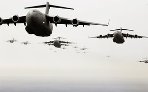 air force, Boeing C, 17 Globemaster III, military, airplane