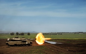 weapon, Merkava, military, fire, tank, shooting