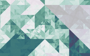 geometry, green, isometric, tesselation, cube, fractal