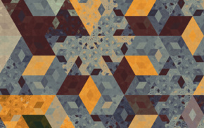 pattern, isometric, abstract, cube, artwork, Apophysis