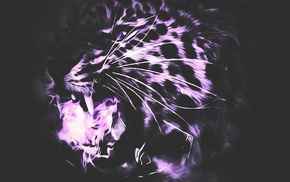 abstract, tiger