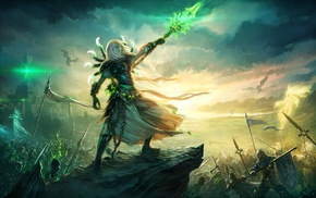 video games, fantasy art, heroes, Warcraft
