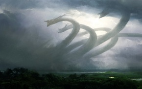 fantasy art, Magic The Gathering, hydra, artwork