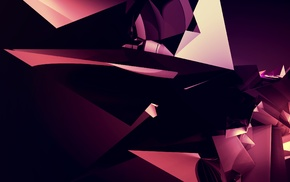 digital art, colorful, crystal