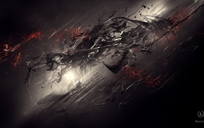dark, digital art