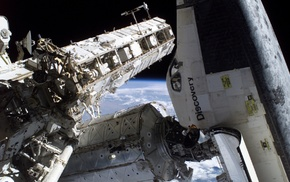 International Space Station, space shuttle, Discovery, space, NASA