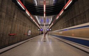 subway, train station, train, Germany