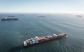 ship, ports, Los Angeles