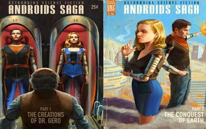book cover, androids, Android 18, Android 17, Dragon Ball Z