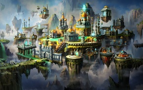fantasy art, city, Might  Magic Heroes VII, artwork