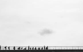 London, sky, people