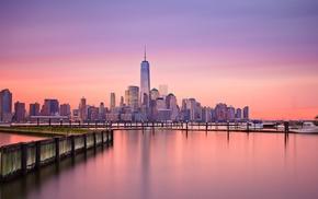 New York City, reflection, One World Trade Center