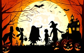vector art, Halloween, silhouette