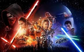 Star Wars Episode VII, The Force Awakens, Leia Organa, Captain Phasma, Phasma, Kylo Ren