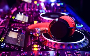headphones, DJ, music