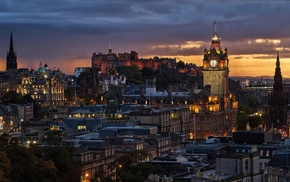 Gothic architecture, architecture, city, Edinburgh, cityscape, tower
