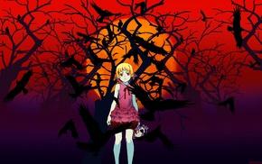 anime girls, Oshino Shinobu, blonde, Monogatari Series, skull, anime