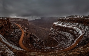 nature, Utah, canyon, landscape, hairpin turns, USA