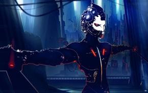 cyberpunk, futuristic, fantasy art, artwork, cyborg