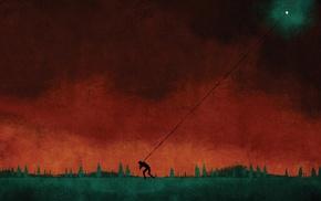 ropes, cover art, August Burns Red, artwork, digital art, red