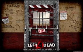 door, video games, Left 4 Dead 2, zombies