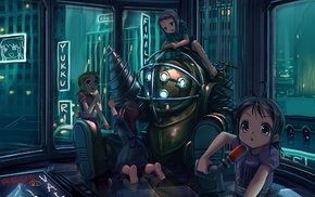 Big Daddy, Little Sister, video games, BioShock, anime