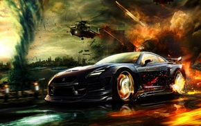 Nissan GT, R R35, vehicle, car