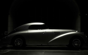 Mercedes, Benz, car, Mercedes, Benz 540K streamliner, dark